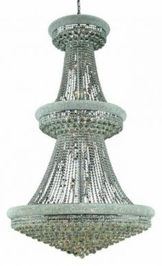 Adele - Large Hanging Fixture (38 Light Modern Grand Crystal Chandelier) - 1530G42. This Adele - Large Hanging Fixture  (38 Light Modern Grand Crystal Chandelier), is unmatched in its quality craftsmanship.  This elegant lighting fixtures, comes in a variety of finishes, crystal trims (including Heirloom Grandcut, Heirloom Handcut, Swarovski Elements & Swarovski Spectra) and crystal colors.  Finish, crystal trim and crystal color are all dependent on the model (check options). About The…