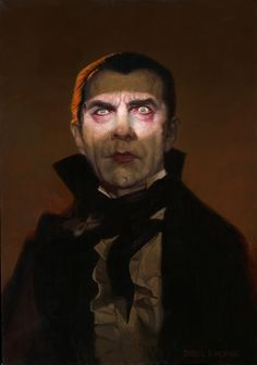 Movie Monster Portraits by Daniel Horne Bela, to me, the first and greatest, Nosferatu hadn't registered yet with me.