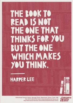 Nice Harper Lee Quote On What Makes A Good Book!