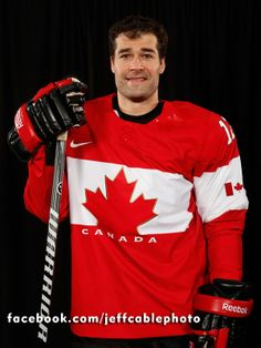 Patrick Marleau sporting his Canada Jersey. #TealGoesForGold