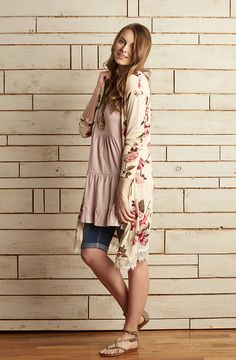 Go boho chic with long floral flyaways and lace trim. #MeijerStyle