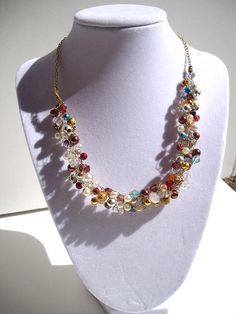 (not mine) MultiStrand Crocheted Wire Necklace by TerriJeansAdornments, $32.00