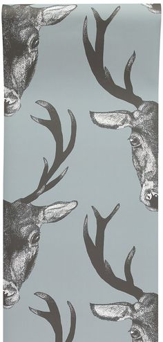 Stag Frames Wallpaper Animal Print Pheasant Floral Flowers Beige Grey Holden