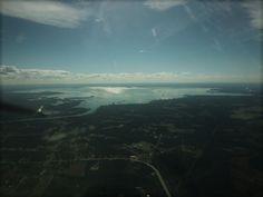 Lake Moultrie SC, heading for KMKS --Photo by Joe Bustos CFI, Pilot:  Marguerite Herald