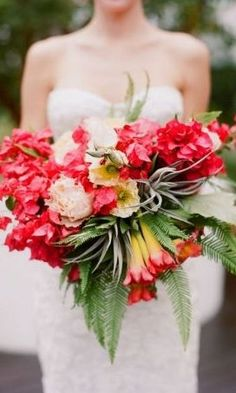 Bold and Beautiful Floral Wedding Ideas by The Vine's Leaf - bridal bouquet; Mod Wedding, Floral Wedding, Summer Wedding, Wedding Colors, Wedding Flowers, Bali Wedding, Green Wedding, Wedding Shoes, Wedding Dresses