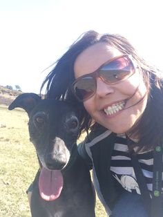 Jeannie and Theo the Whippet