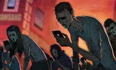 Steve Cutts is a London-based illustrator and animator who uses powerful images to criticize the sad state of society. Greed,environmentaldestruction,junkfood andTVconsumption, smartphone…