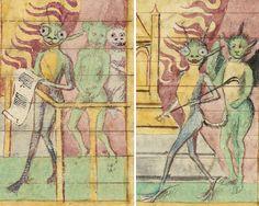 aliens Henri de Ferrières, Livres du roi Modus et de la reine Ratio, France 15th century. Paris, BnF, Bibliothèque de l'Arsenal 3080, fols. 11r, 48v