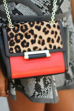 Red on a purse