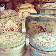 #Vintage Decorative Tins.