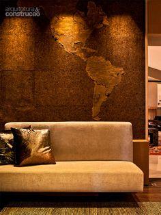 A grife portuguesa Rusticcork foi a escolhida para forrar as paredes da adega projetada pela dupla Agnes Manso e Maria Alice Miglorancia também para a Casa Cor São Paulo 2013.