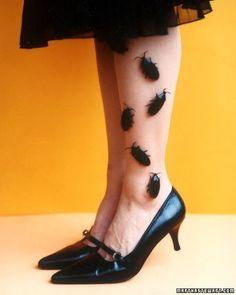 Glue bugs onto nylons