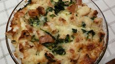 7 great recipes for eggs! This one is spinach gruyere strata. Great brunch dish.
