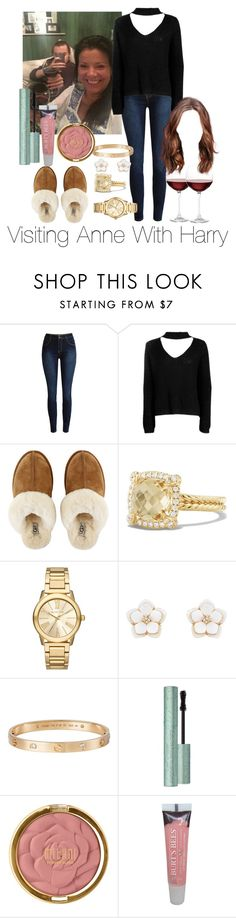 """Visiting Anne With Harry Styles"" by jenadamss ❤ liked on Polyvore featuring Boohoo, UGG Australia, David Yurman, Michael Kors, Accessorize, Cartier, Too Faced Cosmetics, Milani, Burt's Bees and Nordstrom"