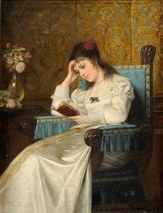 ✉ Biblio Beauties ✉ paintings of women reading letters & books - Ernst Anders Magdeburg,