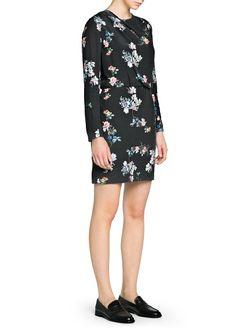 Oriental print flowy dress