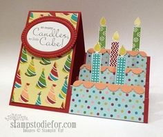 Some of the most popular cards I do are the fun fold cards. This weeks Technique How To, features the side step card. Fun Fold Cards, 3d Cards, Folded Cards, Stampin Up Cards, Handmade Birthday Cards, Happy Birthday Cards, Card Making Tutorials, Making Ideas, Side Step Card