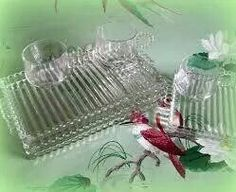 Snack Trays, Cup and Plate Sets,Clear Glass Vintage , DIY Wedding ...