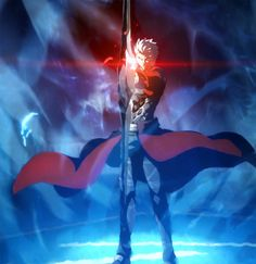 Archer - Fate/stay night: Unlimited Blade Works. This is not fan art. It is the actual art from the show.