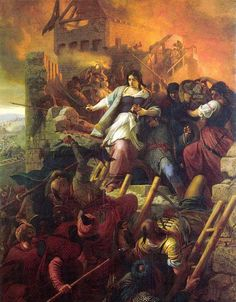 Women of Eger : Bertalan Szekely : Romanticism : battle painting - Oil Painting Reproductions