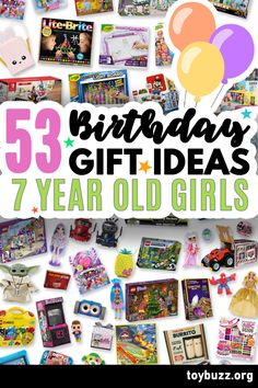 These 50+ Birthday Gifts for 7 Year Old Girls are gonna be amazing for our kids' birthday parties!! I can't believe you can see all of the coolest gifts for 7 year olds birthdays all in one place. 50 Birthday, 50th Birthday Gifts, Birthday Gifts For Women, Birthday Parties, Cool Gifts, Best Gifts, Milestone Birthdays, 7 Year Olds, Our Kids