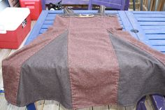 Wool Viking Apron Dress with Bronze Age by EverydayArchaea on Etsy