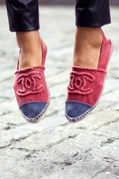 red chanel espadriles