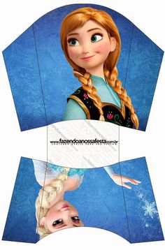 Frozen: Free Printable Party Boxes. Party Printables, Disney Printables, Free Printables, Frozen Disney, Frozen Birthday Party, Frozen Favors, Frozen Free, Gift Wrap Box, Paper Toy