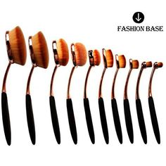 Fashion Base® 2016 Hot Rose Golden Beauty New Elite Oval Tooth Design Makeup Brush Set For Applying Cosmetic Products Amazing Set (10Pcs Rose Golden) - http://thisissnews.com/fashion-base-2016-hot-rose-golden-beauty-new-elite-oval-tooth-design-makeup-brush-set-for-applying-cosmetic-products-amazing-set-10pcs-rose-golden/