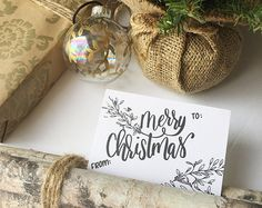 HAND LETTERED PRINTABLE GIFT TAGS