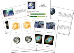 Solar system and Astronomy fact book and nomenclature cards (free printable) Montessori Science, Montessori Classroom, Teaching Science, Montessori Elementary, Classroom Themes, Preschool, Astronomy Facts, Space And Astronomy, Earth For Kids