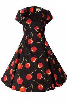 Collectif Clothing - 50s regina doll swing dress mon cherie black