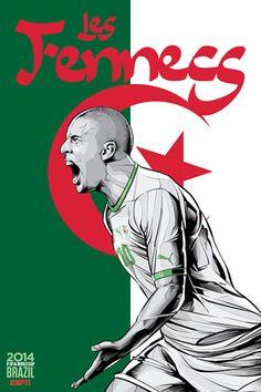 Selección de Argelia. Todas las imágenes son de Cristiano Siqueira para ESPN.