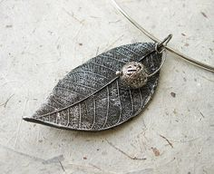 Ancient Leaf Choker Collar Necklace by smafactory on Etsy, $20.00