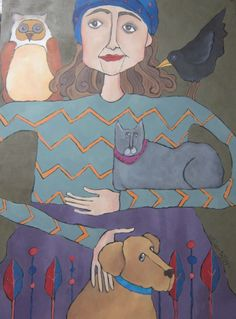 """""""The Rescuer""""  acrylic on canvas."""