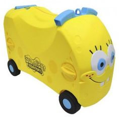 The SpongeBob SquarePants Vrum Ride-On Storage functions as a foot-to-floor ride-on that also can be used for storage as well as a shoulder bag for play on the go.