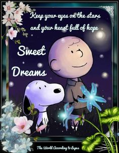 Charlie Brown and Snoppy Good Night Greetings, Good Night Messages, Good Night Wishes, Good Night Sweet Dreams, Good Night Quotes, Goodnight And Sweet Dreams, Night Qoutes, Evening Quotes, Snoopy Love