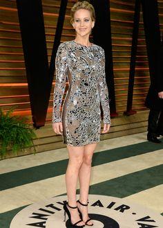 Jennifer Lawrence numa festa pós-Oscar 2014. (Foto: Getty Images)