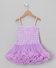 Look what I found on #zulily! Lavender Rosette Ruffle Pettidress - Toddler by Share n' Smiles #zulilyfinds