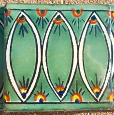 """6~MEXICAN TALAVERA POTTERY 4"""" tile Hand Painted Green Peacock + Italy CD"""