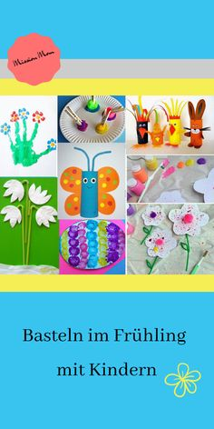 Basteln mit Kindern im Frühling Crafting ideas for the spring. Are you looking for ideas that you can tinker with children and toddlers in spring? Spring flowers, butterflies, birds in the nest and Easter eggs, everything included. Spring Crafts For Kids, Kids Crafts, Craft Projects, Craft Ideas, Creative Crafts, Preschool Crafts, Rainbow Learning, Sand Crafts, Sharpie Crafts