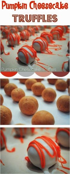 all-food-drink: Pumpkin Cheesecake Truffles Recipe