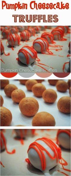 all-food-drink: Pumpkin Cheesecake Truffles Recipe
