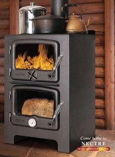 Wood and Coal Ranges Nectre Bakers Oven Bakers Oven, Wood Burner, Iron Doors, Slow Living, Outdoor Fire, Kitchen Hacks, My Dream Home, Hearth, Wood Stoves
