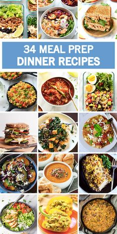 You can never have enough ideas on how to make delicious and easy dishes for your family! Plus, these 34 Meal Prep Dinner Recipes will give you all the inspiration you need to plan ahead for busy school weeks.