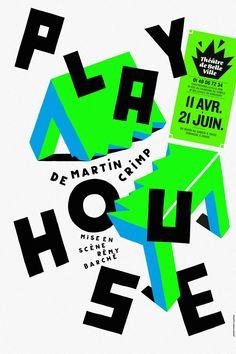 Affiche graphisme Théâtre de belleville Pierre Jeanneau Play House