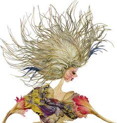 Une dame créée de fleurs séchées: vraiment spécial !
