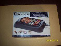 """13"""" ELITE CUISINE INDOOR ELECTRIC GRILL, steaks, fish, chicken...model EGL3450 #Elitecuisine"""