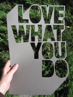Awesome die-cut typography idea