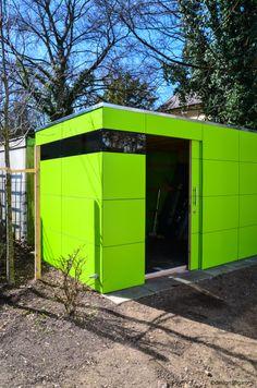 Epic design gartenhaus atgart by design garten munich lime green garden house